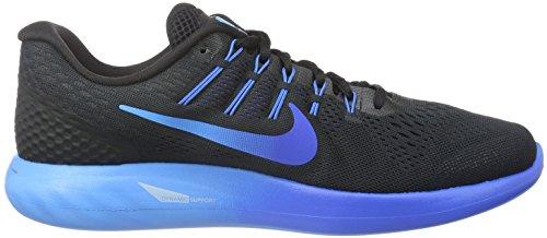 Nike Lunarglide 8, Scarpe da Corsa Uomo Multicolore (Black/Multi-color-deep Royal Blue-hyper Cobalt)