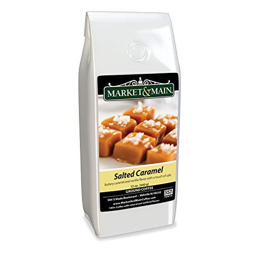 Market & Main Salted Caramel Flavored Coffee, Single Bag, 12 Ounces