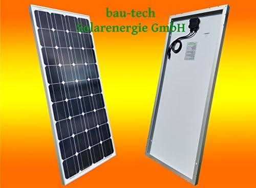 bau-tech Solarenergie 1 Stück 130W Monokristallines Solarpanel 12V Solarmodul Solarzelle 130Watt für Camping, Caravan, Garten GmbH