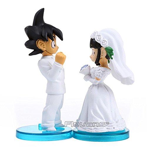Anime Dragon Ball Z Son Goku /& ChiChi Wedding PVC Figures Toys Dolls 8cm set of 2