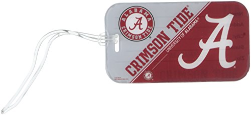 NCAA Alabama Crimson Tide  Crystal View Team Luggage Tag, Red, 7.5-inches by 3-inches by 0.5-inch Alabama Crimson Tide Luggage Tag
