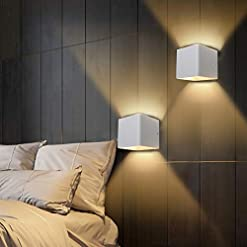 Interior Lighting Ralbay LED Modern Indoor Wall Sconce 2-Pack 10W Modern LED Aluminum Wall Mounted Light Fixture Lamps Up and Down Wall… modern wall sconces