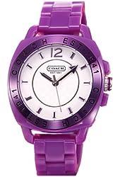 Coach Purple Boyfriend Plastic Bracelet Watch
