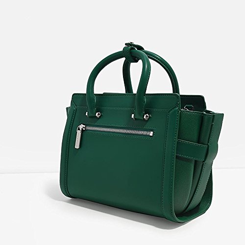 PU Bag Red Handbag Nude Pewter Boxy amp; Charles Crossbody Black Bag Keith 17SS Trapeze Shoulder Green Colour XxwBCXEZqn