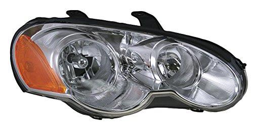 Headlight Headlamp Passenger Side Right RH for 03-05 Chrysler Sebring 2 Dr Coupe ()