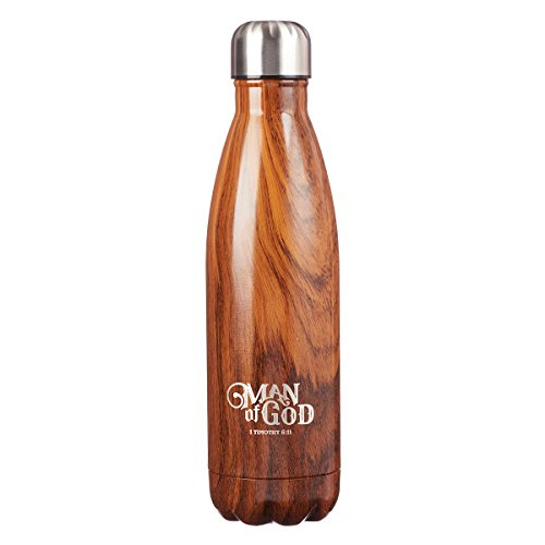 Stainless Steel Water Bottle: Man of God - 1 Timothy 6:11 by Christian Art Gifts