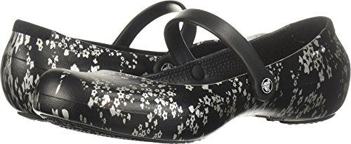 Crocs Women's Alice Work Flat W Food Service Shoe, Black/Silver, 5 M US