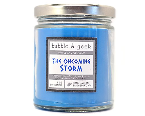 The Oncoming Storm Scented Soy Candle - black pepper, patchouli, vanilla