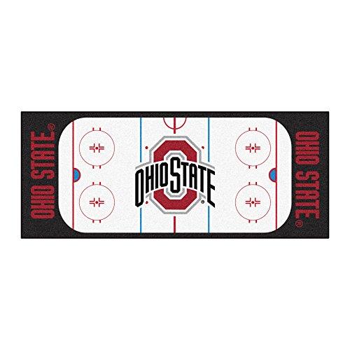 (NCAA Ohio State University Buckeyes Rink Non-Skid Mat Area Rug Runner )