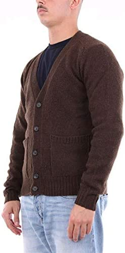 Heritage Luxury Fashion Uomo 0152H50TESTADIMORO Marrone Lana Cardigan | Stagione Outlet