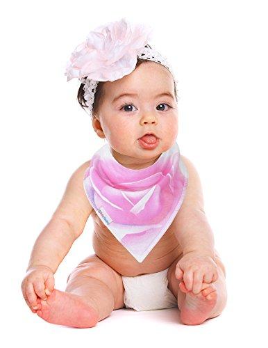 Baby Bandana Drool Bibs By Daulia, Girls 7-Pack Absorbent Organic Cotton, Cute Baby Gift for Girls