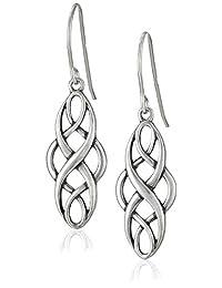 Celtic Design Oval Dangle Earrings
