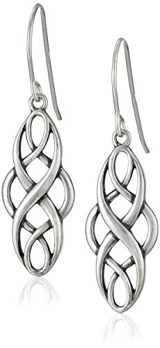 Sterling Silver Oxidized Celtic Knot Dangle Earrings ()