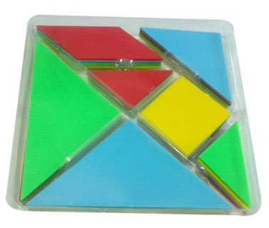Tangram (Plastics) Set of 4 Tangrams (Set of 28 Pcs.) (Tangram Plastic)