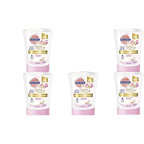 Sagrotan No Touch Nachfüller Lotusblüte & Kamilleöl 250 ml Handseife ( 5er Pack )