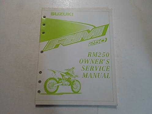 2000 suzuki rm250 owners service manual suzuki amazon com books rh amazon com 2003 RM 250 1999 RM 250