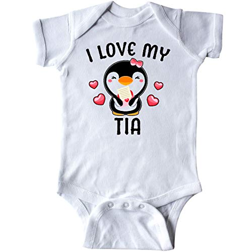 (inktastic - I Love My Tia with Cute Penguin Infant Creeper 6 Months White 3429f)