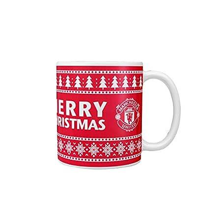 Manchester United FC Christmas Fair Isle Mug 11oz 41JcR6JolML