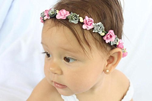 Amazon.com  Handmade Pink and Silver Flowers Crown Headband by ALLBABYGIRLS   6c5f5191c7e