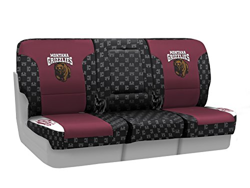 Coverking Custom Fit Front 40/20/40 NCAA Licensed Seat Cover for Select Nissan Titan Models - Neosupreme (University of Montana) by Coverking