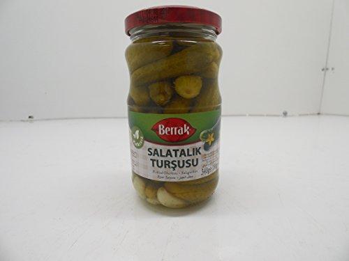 Berrak Pickled Gherkins 340gr (Pickled Turkey Pickles)