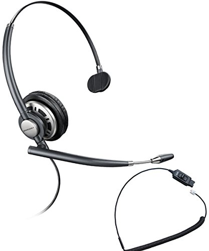 Avaya Compatible Plantronics VoIP Ultra Noise Canceling HW710 (HW291N) Headset Bundle | Avaya 1600 and 9600 IP Phones: 1608, 1616, 9601, 9608, 9610, 9611, 9611G, 9620, 9620C, 9620L, 9621, 9630, 9640, 9640G, 9641, 9650, 9650C, 9670