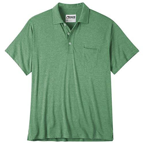 Mountain Khakis Men's Patio Polo Shirt, Sage Heather, X-Large