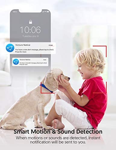 41JcSllezoL. AC Victure 1080P FHD Baby Monitor Pet Camera 2.4G Wireless Indoor Home Security Camera with Two-Way Audio Motion Detection Night Vision for Baby/Pet/Nanny/Elderly Compatible with iOS & Android System    Product Description