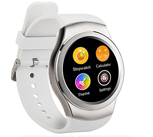 G3 GSM Watch Phone Smart Watch Bluetooth Watch MT2502 1.3 inch Heart Rate Data Sync White