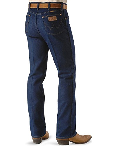 Wrangler Men's Big Western Regular 5 Pocket Boot Cut Jean, Navy Stretch, 46x30 Cowboy Cut Stretch Denim Jean