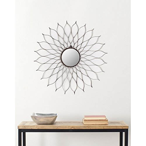 Safavieh Home Collection Antique Flower Mirror, Black by Safavieh