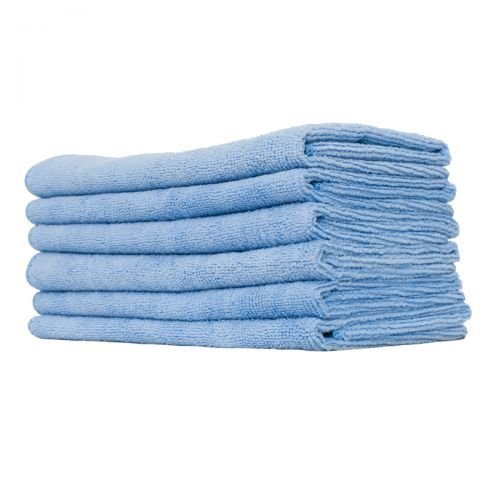 GHP 96-Pcs Lint-Free Bluek 15''x15'' Absorbent 300GSM Microfiber Plush Cleaning Towels by Globe House Products
