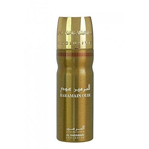 New Prime Oudi Deodorant Body Spray By Al Haramain Exclusive Rose Amber Saffron (200ml)