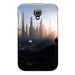 Cute Appearance Covers/fjf19356pDsD Outer Space Cityscapes Moon Cases For Galaxy S4