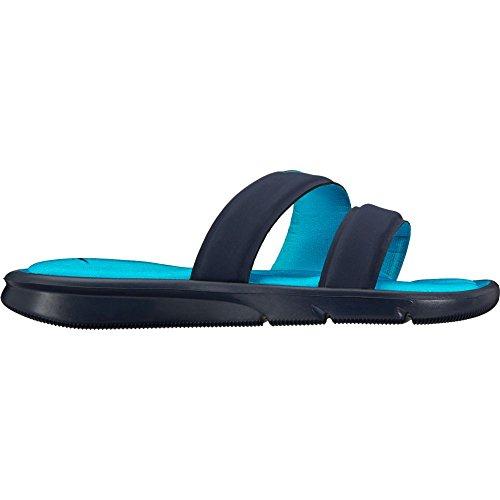 NIKE Damen Ultra Comfort Slide Sandale Obsidian / Chlorblau