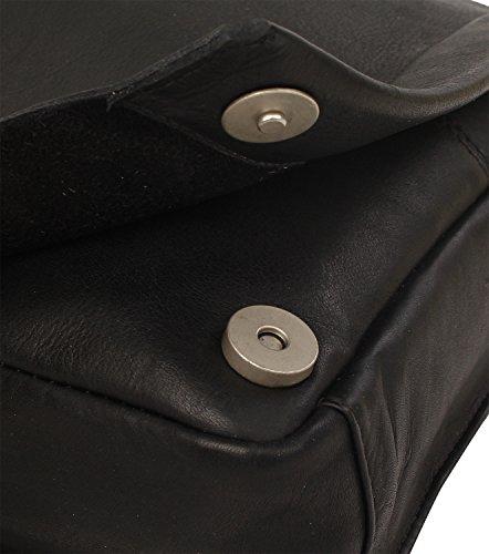 Harolds Campo borsa a tracolla pelle 27 cm nero