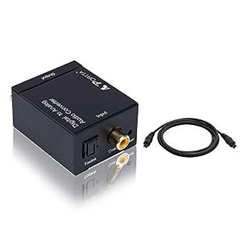 Portta petdta Digital Coax Coaxial Optical Toslink a Analog Audio Convertidor Converter Digital a analógico Digital