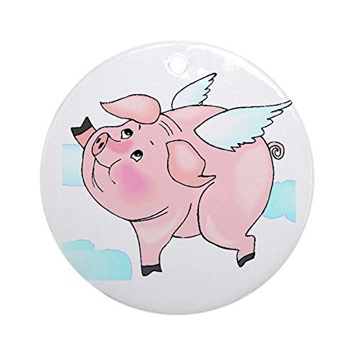 CafePress Flying Pig Keepsake (Round) Round Holiday Christmas Ornament