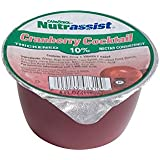 Nutrassist 4oz Thickened Juice Cups, Cranberry Cocktail 10% - Nectar Consistency (Case of 48)
