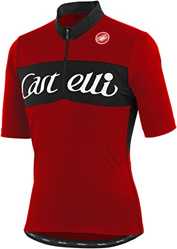 (Castelli Gino Wool Short Sleeve Jersey Red, S)