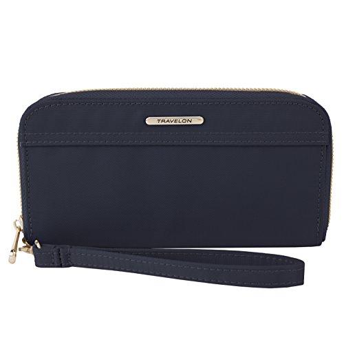 Travelon Womens Tailored Clutch Wallet, Sapphire