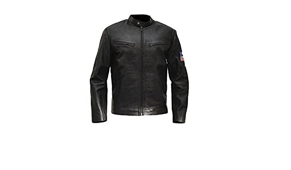 Fashiontribe Fashion Tribe Swordfish Hugh Jackman Black Leather Jacket at Amazon Mens Clothing store: