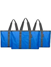 CleverMade SnapBasket - Bolsa de compra plegable con bolsa de 30 L de lado suave
