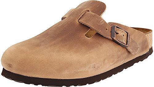 Birkenstock Clog Sandal - Birkenstock Boston Classic  Arch Clog,Tobacco Brown Leather,38 M EU