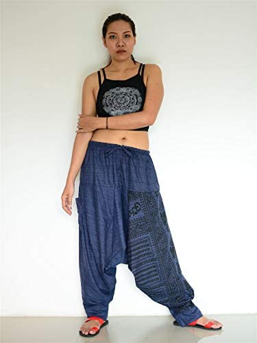 in Green SM0043 Thai Genie Pants Comfy Trouser Gypsy Pants Rayon Pants,Aladdin Pants Maxi Pants Boho Pants