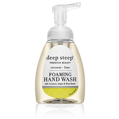 Deep Steep Foaming Hand Wash, 8 Ounce (Coconut (Hand Wash Coconut)