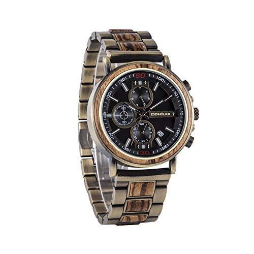 Edenträ träklocka herr armbandsur Luzon träarmband ED091-006