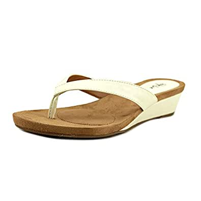 Style & Co. Womens Haloe2 Open Toe Casual Slide Sandals, White, Size 6.0