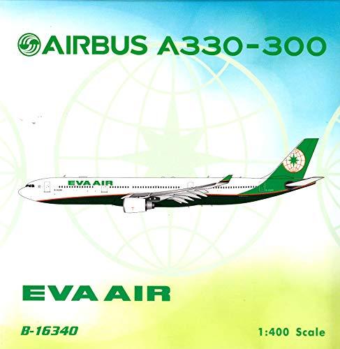 - Phoenix Model PHX04231 1:400 Eva Air Airbus A330-300 Reg #B-16340 (pre-Painted/pre-Built)