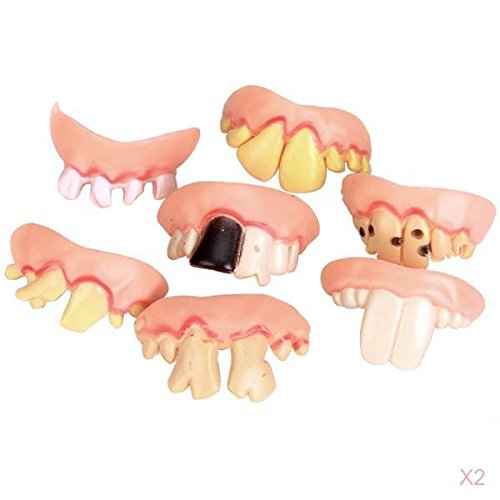 10pcs Ugly Teeth Halloween Party Prop Costume Random Type by Generic